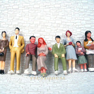 80 pcs G Scale 1:30 Painted Figures People passenger