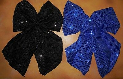 New Sequin Pin On Back Bustle Bows Dance Tap Accessory Royal Blue Or Black