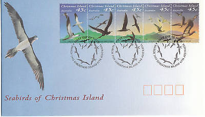 1993 Seabirds of Christmas Island (Gummed Strip) FDC - Christmas Is Pictorial PM