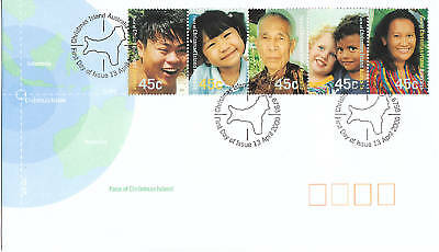 2000 Faces of  Christmas Island  FDC