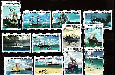 1976 Ships Associated With Cocos Islands - MUH Complete