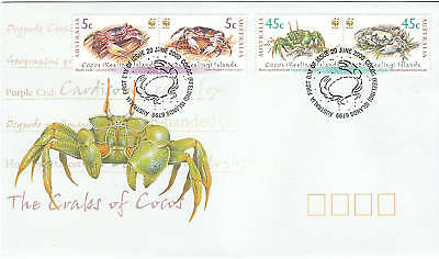 2000 The Crabs of Cocos Islands FDC