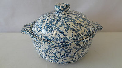 Mccoy Pottery 1982 RARE Non Production Blue Country Cover Dish #C444