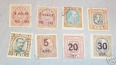 SCARCE STAMPS - ICELAND 1902 to 1921