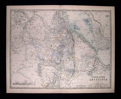 1871. JOHNSTON. Africa, Upper Nubia, Abyssinia, Red Sea