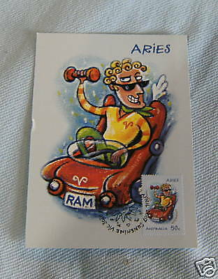 Airmail Card - 03/04/2007 Aries Astrology Sign