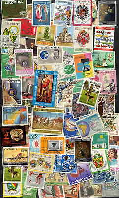 Fine Colombia Pictorial Stamp Collection - 100 Diff!
