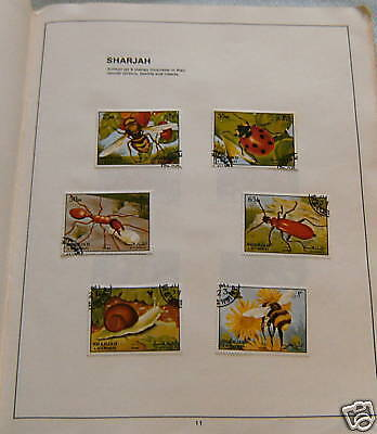 Stamp Set - Sharjah , Beetles & Insects