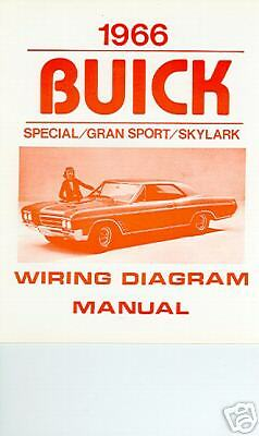 1966 buick gs/skylark/special wiring diagram manual