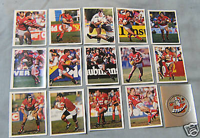 1993 Select Rugby League Stickers - Illawarra Steelers