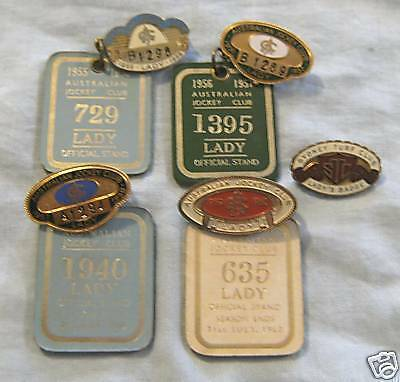 Australian Jockey Club Badges & Keyrings 1955-1960