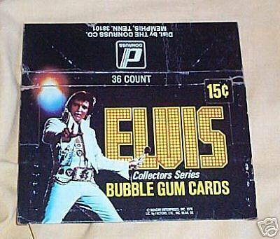 1978 Elvis Presley Trading Card Box