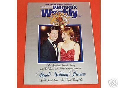 Lady Diana Spencer, Royal Wedding Womens Weekly Preview