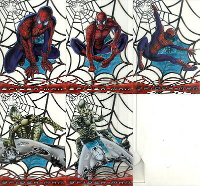 Spider-Man Movie 2002 Topps Web Shooter Clear Insert Card Set C1 To C5 Ma