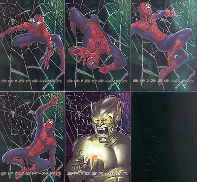 Spider-Man Movie 2002 Topps Web Tech Foil Insert Card Set F1 To F5 Ma