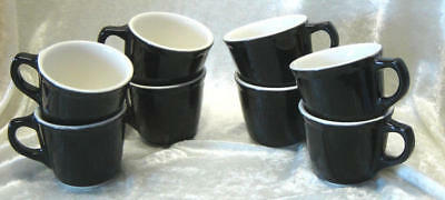 Black And White Restraunt Style Coffee Mugs