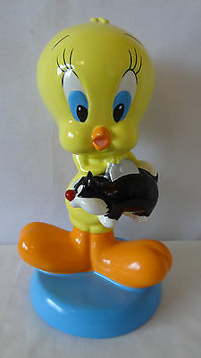 Warner Brothers 1998 Tweety Bird Holding Sylvester  Bank #C714