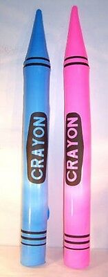 12 CRAYON INFLATABLE 42 IN prize fair carnival blow up BULK LOT inflate toy new