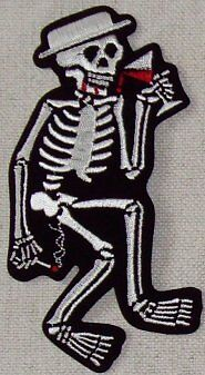 DIVERS PATCH Brodé Embroidered Squelette Skeleton NEUF