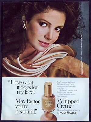 Vintage Magazine Ad Max Factor Whipped Creme Make-Up