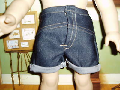 """Denim Jeans Shorts 18"""" doll clothes fits American Girl"""