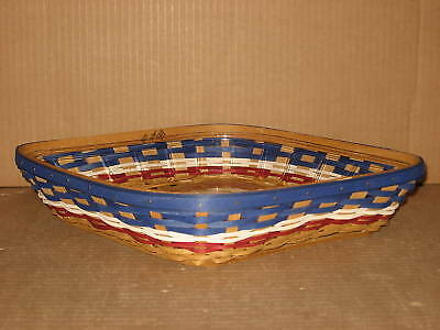 Longaberger American Celebrations Wave Basket & Protector great condition!