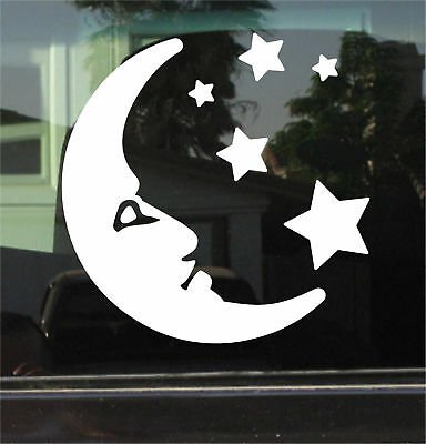 Moon & Stars 8 Inch Vinyl Decal / Sticker