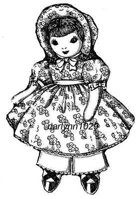 Vintage 1941  Brooks Old Fashioned Cloth Doll Pattern