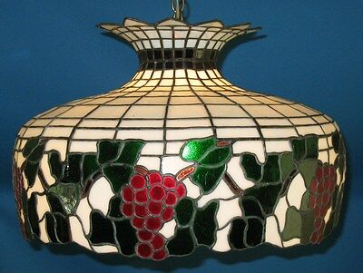Antique Art Nouveau Stained Glass Lamp Shade  c, 1920