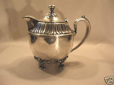Pairpoint Silverplate Covered Pitcher Antique Silver