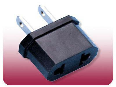 Travel Adapter AC Flat Jack from 220V to 110V Plug Europe Asia to US