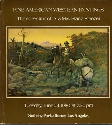 SOTHEBY'S American Western Paintings Stenzel Collection