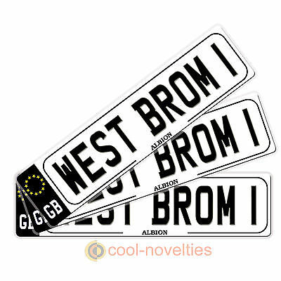 "Mini Novelty Number Plate Gift For Fc Fans ""west Brom"" Perfect For Football Fans"