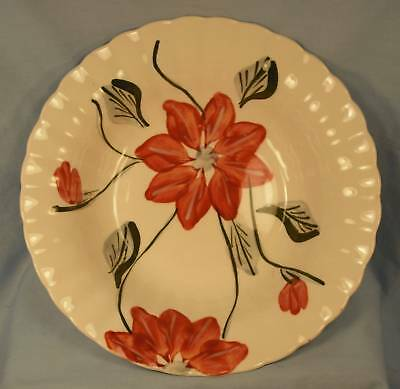 Beautiful Verona Vegetable Bowl Blue Ridge Pottery Red Flowers NICE (O)