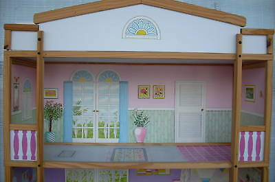 Barbie Doll Size 4 Story Wooden Doll House *New* In Factory Carton