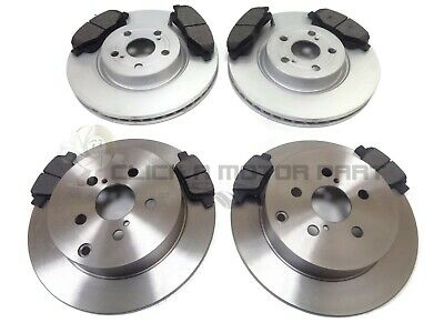 TOYOTA AVENSIS 1.8 VVTi 2003-2008 FRONT & REAR BRAKE DISCS AND PADS SET NEW