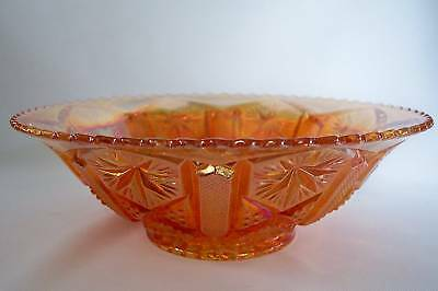 VINTAGE IMPERIAL CARNIVAL GLASS STAR AND FILE BOWL N R