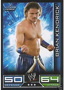 WWE Slam Attax - Brian Kendrick Smackdown Trading Card