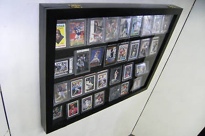 Graded Baseball Card display Case holds 36 PSA Beckett Horizontal 100% UV
