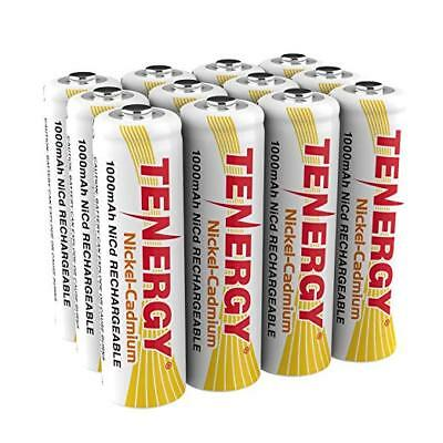 12pcs Tenergy AA 1000mAh NiCd Rechargeable Batteries Cells AA for Solar Light