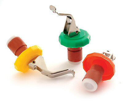 Norpro 289D Set of 5 Bottle Stoppers with Opener, Asst Colors