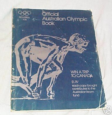 #ll. Book - Official 1976 Australian Olympic Book
