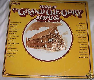 VINTAGE Double LP Stars of the Grand Ole Opry 1926-1974