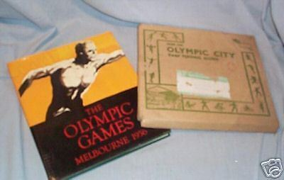 #Xx. 1956 Melbourne Olympic Book In Posting Container