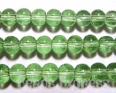 80 Crystal Glass Smooth Round Glass Beads 4mm Light Green