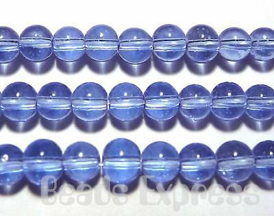 80 Crystal Glass Smooth Round Glass Beads 4mm Sky Light Blue