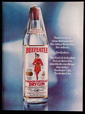 Vintage Beefeater London Dry Gin Magazine Print Ad