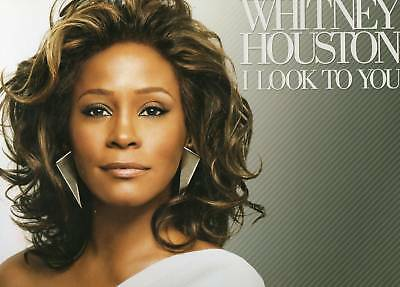 Whitney Houston I Look To You Promo Poster Wall Cling