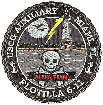 Auxiliary Flot 6-11 Ateam FL lg W4690 USCG Coast Guard patch