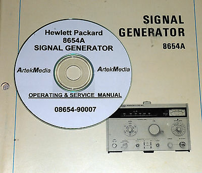 Hewlett Packard Operating & Service Manual for the 8654A Signal Generator